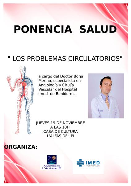 La concejalía de Sanidad e IMED Hospitales organizan una charla sobre los problemas circulatorios