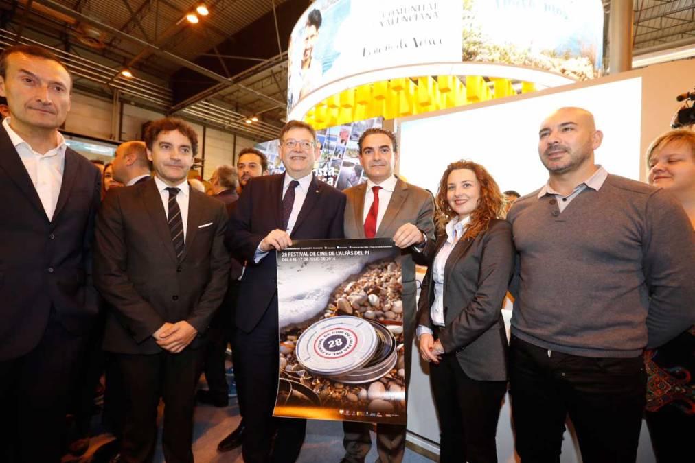 Generalitat y Diputación muestran en Fitur su respaldo al 28 Festival de Cine de l'Alfàs del Pi