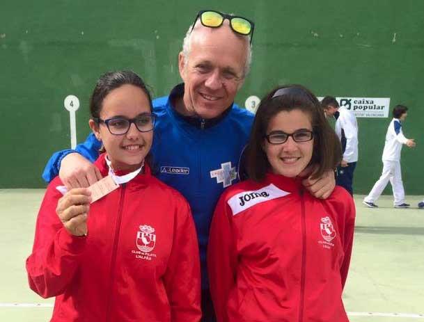 """La alfacina, jugadora de pelota, Laura Gómez queda tercera en los  """"XXXIV Jocs Esportius de la Comunidad Valenciana."""