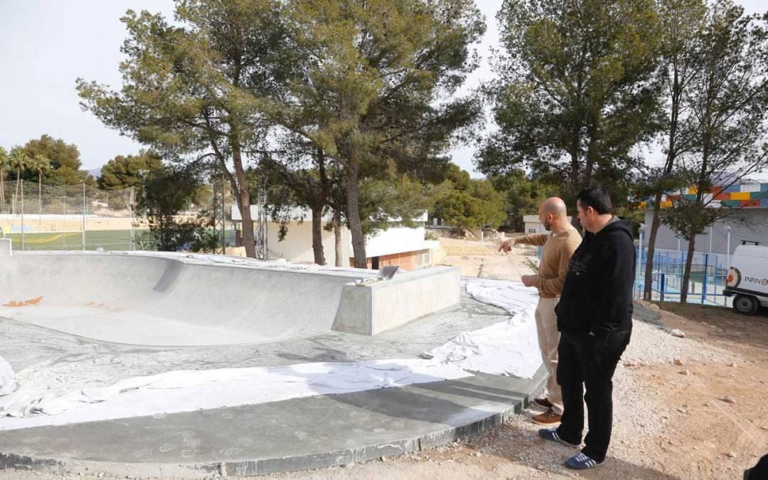 A punto de finalizar la primera fase del Skatepark de l'Alfàs del Pi