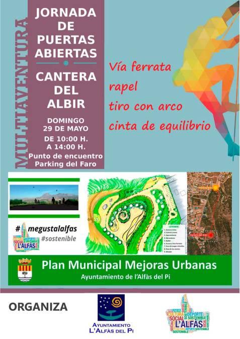 L'Alfàs organiza una jornada de puertas abiertas en la cantera de l'Albir para dar a conocer la nueva área recreativa