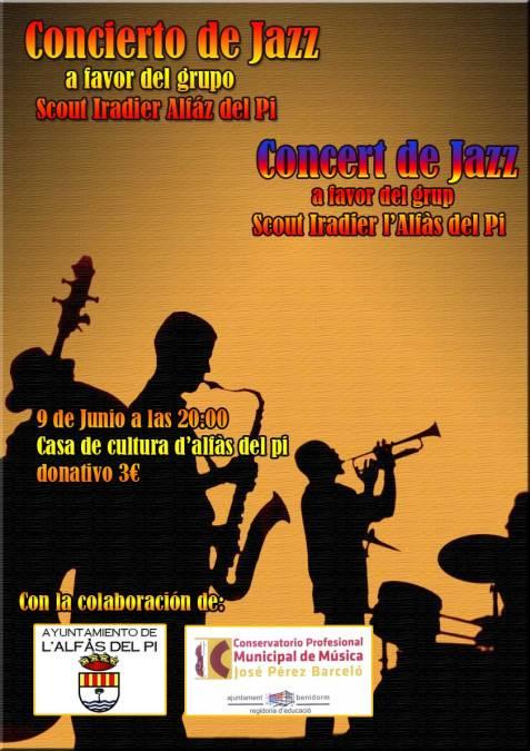 La Casa de Cultura acoge un concierto de jazz en beneficio del grupo Scout Iradier de l'Alfàs del Pi