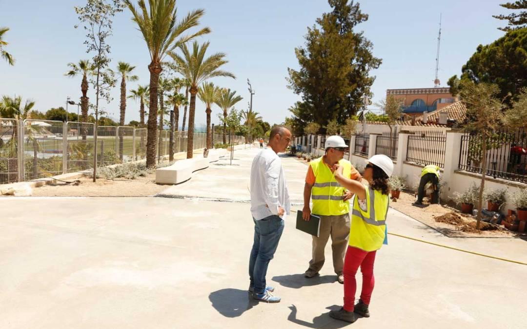 La nueva Avinguda dels Esports entra en la fase final de su remodelación y estará lista para el nuevo curso escolar