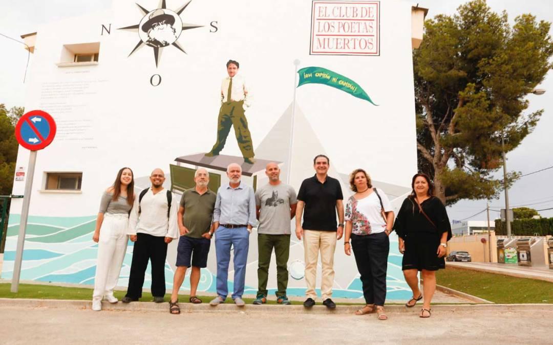 Crece el circuito de 'C.A.L: cine, arte y literatura' con un mural de la película 'Los poetas muertos'