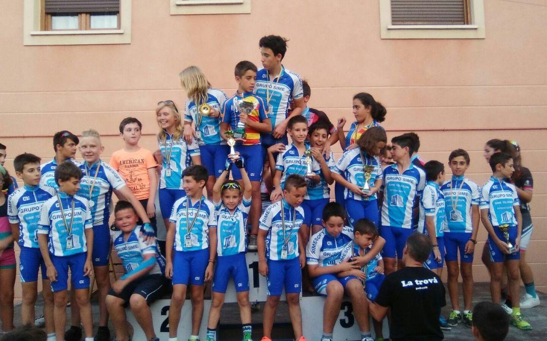 La escuela de ciclismo de L'Alfàs del Pi ha destacado en el XV Trofeo Escuelas de Ciclismo celebrado este domingo .