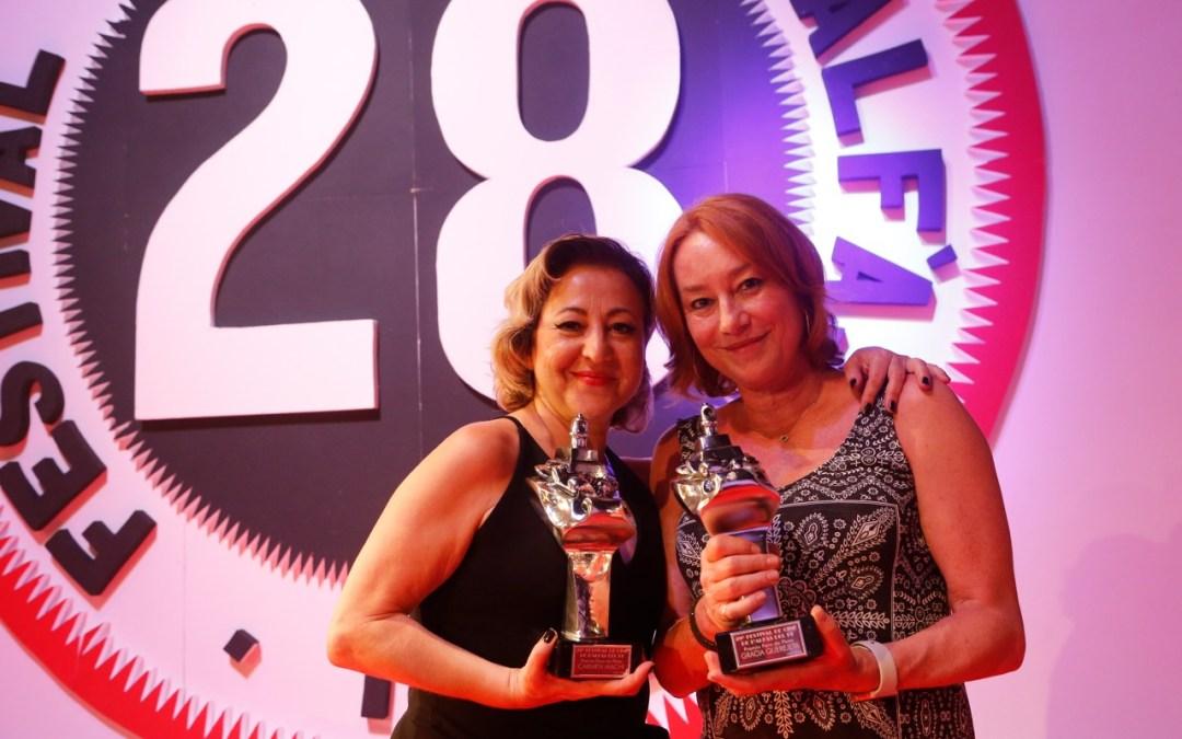 Carmen Machi y Gracia Querejeta reciben el Faro de Plata del 28 Festival de Cine de l'Alfàs del Pi