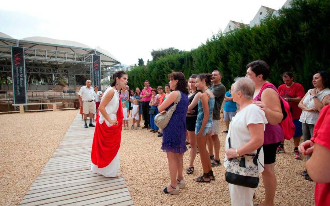 Voconia Domitila volverá a ejercer de anfitriona en una nueva visita teatralizada a la Villa Romana de l'Albir