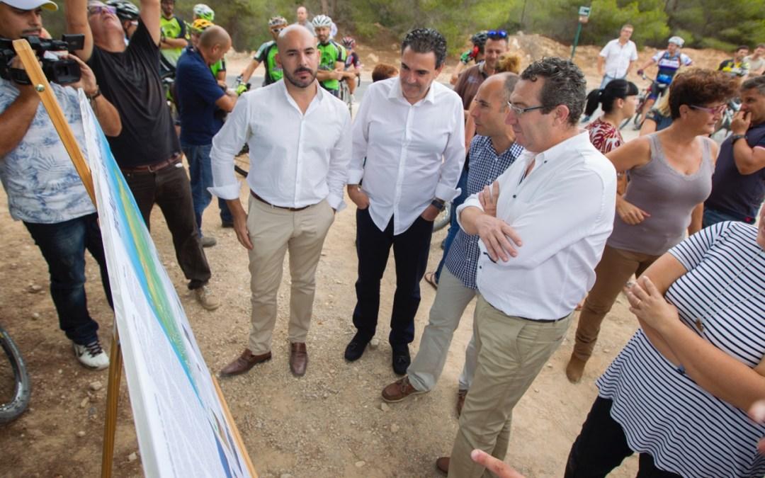 L'Alfàs del Pi y Benidorm quedan unidos a través de la nueva ciclovía del Parc Natural de la Serra Gelada