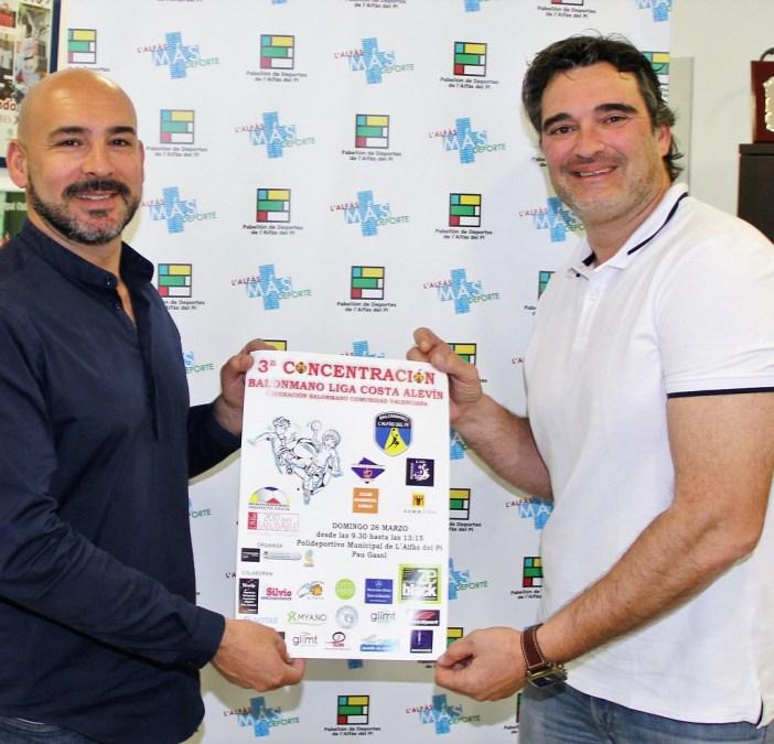Hoy se ha presentado la 3ª concentración de la Liga Costa de balonmano que se  celebrará en l'Alfàs del Pi este fin de semana