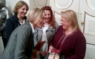 Una delegación de l'Alfàs del Pi es recibida por la presidenta de Malta dentro del proyecto europeo EASY Towns