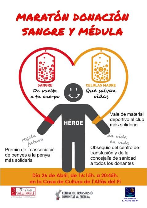 El Ayuntamiento de l'Alfàs organiza un maratón de donación de sangre y médula