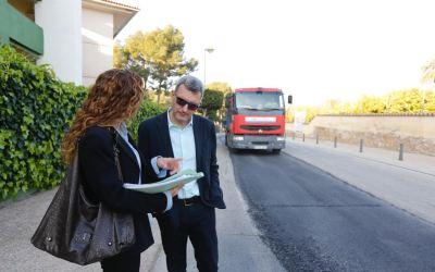 El Ayuntamiento de l'Alfàs asfalta un tramo del camí del Sarandó