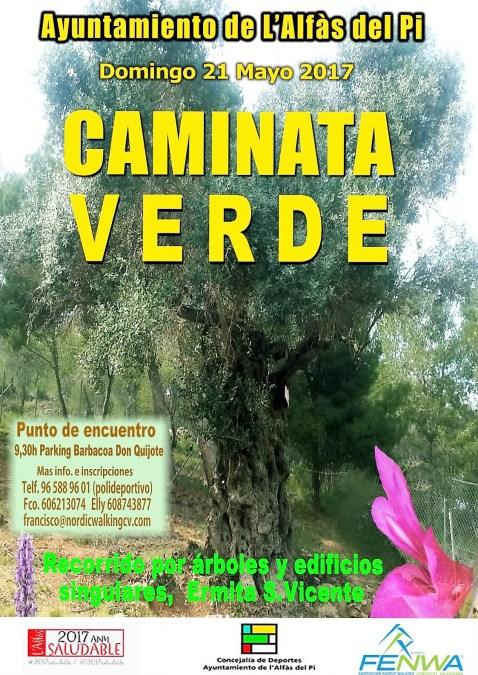 El domingo 21 de Mayo  se celebrará una caminata verde entre árboles y edificios singulares de l'Alfàs del Pi .