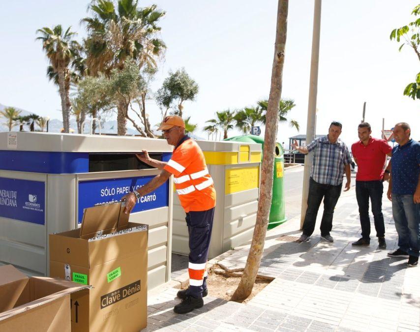 L'Alfàs potencia el reciclaje selectivo de residuos con la creación de nuevos puntos como el de playa Albir
