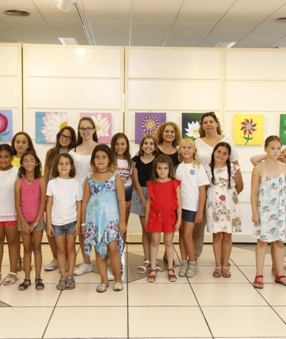 Exposición en la Casa de Cultura del alumnado de pintura creativa infantil y juvenil