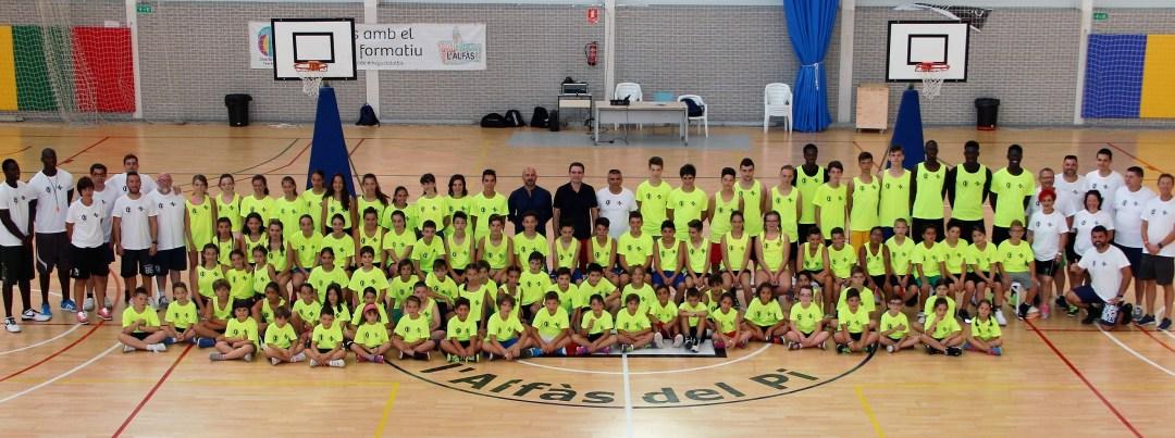 La foto oficial el Campus de Basket de l'Alfàs del Pi