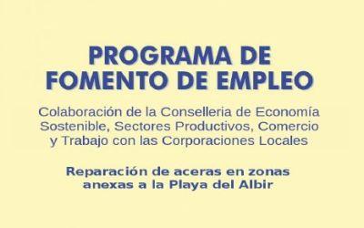 L'Alfàs recibe una nueva subvención para el fomento del empleo