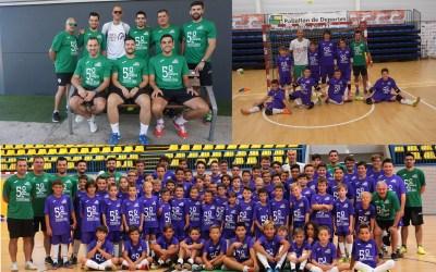 71 niños de toda la comarca participan en el Quinto campus de Fútbol Sala en el Pabellón Pau Gasol.