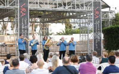 El Museo Villa Romana de l'Albir vibró con la música de Spanish Brass Quintet