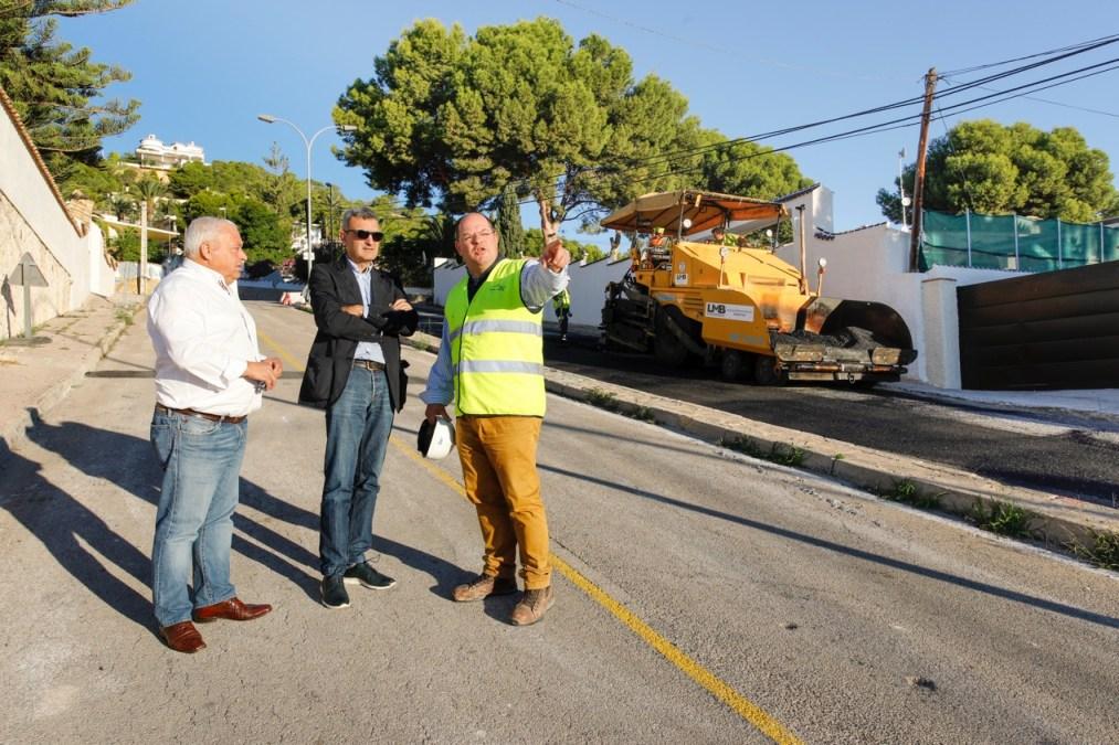 Finalizan las obras en la urbanización El Cautivador de l'Alfàs
