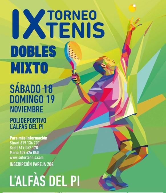 Este  fin de semana se  celebra el  noveno  torneo de tenis de Dobles  Mixto de l'Alfàs del Pi.