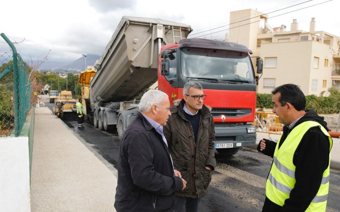 Finaliza la reurbanización del Camí Vell del Faro de l'Albir