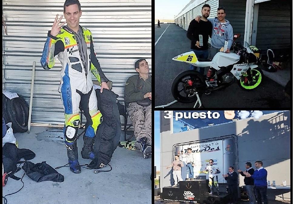 El piloto Jorge Berenguer empieza el campeonato de velocidad de  motociclismo con un tercer puesto