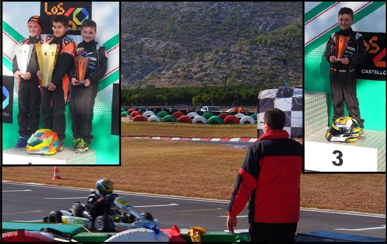 Oliver Claeys debuta en el Campeonato Autonómico de Karts con un tercer puesto.