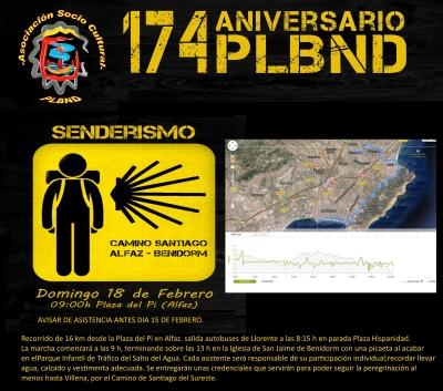 La Policía Local de Benidorm comienza el Camino de Santiago desde l'Alfàs
