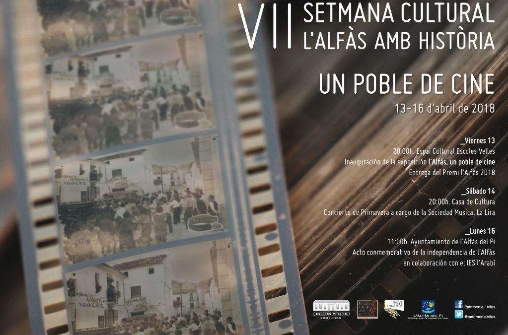 La VII Semana Cultural l'Alfàs amb Història girará en torno al Festival de Cine