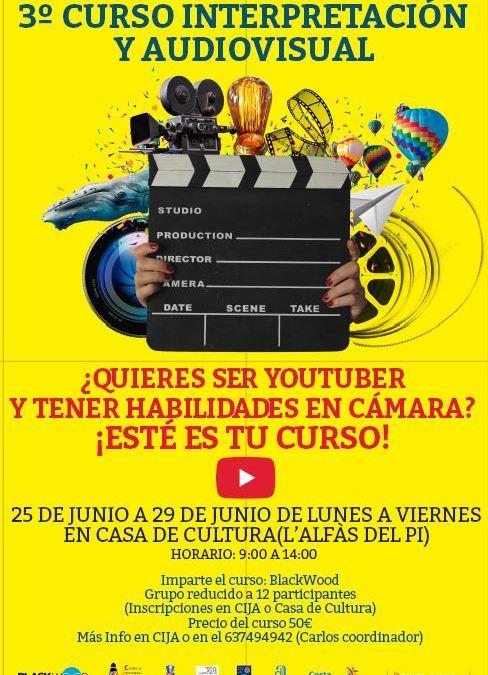 Juventud lanza una nueva edición del Curso de Interpretación y Audiovisual