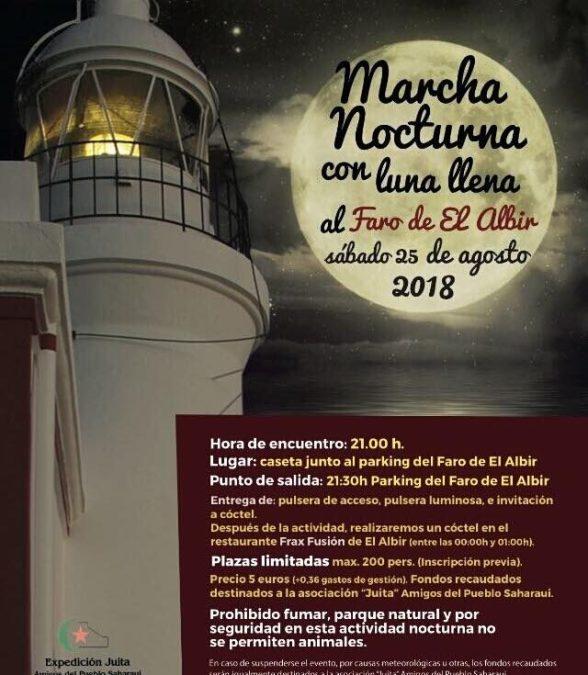 La luna llena de agosto iluminará un paseo por el el Camino del Faro de l'Albir muy especial y solidario