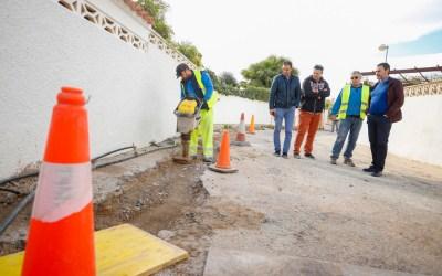 El Ayuntamiento de l'Alfàs realiza obras de mejora en las calles Riu Montegre, Moliner y Segura