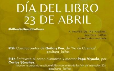 Cultura te invita a celebrar el Día del Libro desde casa con una interesante programación de actividades