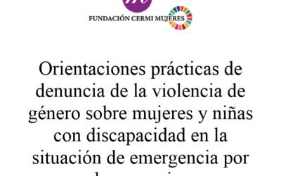Igualdad informa de las guías que ha editado la Fundación CERMI Mujeres