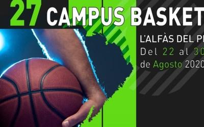 Este sábado se inicia el 27 Campus de Basket de l'Alfàs del Pi