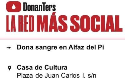 El próximo martes podemos ser solidarios y donar sangre en l'Alfàs del Pi