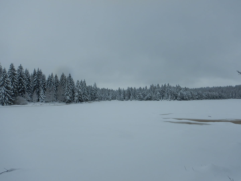 Den See kann man kaum erkennen