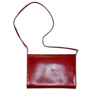 Vintage Eros England red leather and snakeskin handbag