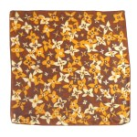 Jacqmar silk scarf with a floral design in browns and yellows