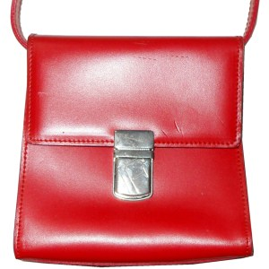 Furla red leather handbag
