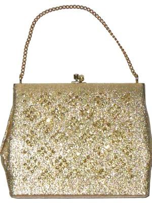 Gold framed evening bag
