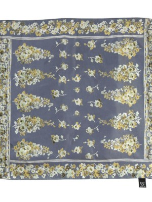 Floral silk pocket square