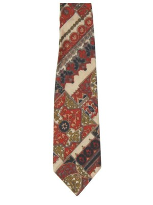 Vintage Hatton Dandy tie in a soft printed fabric