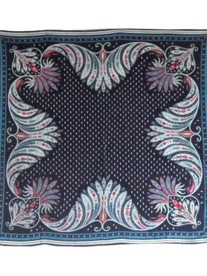 Blue silk scarf