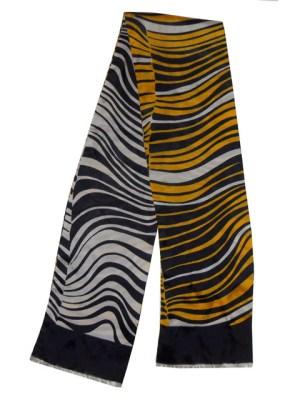 Vintage animal print long scarf.