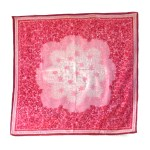 Floral pink silk scarf