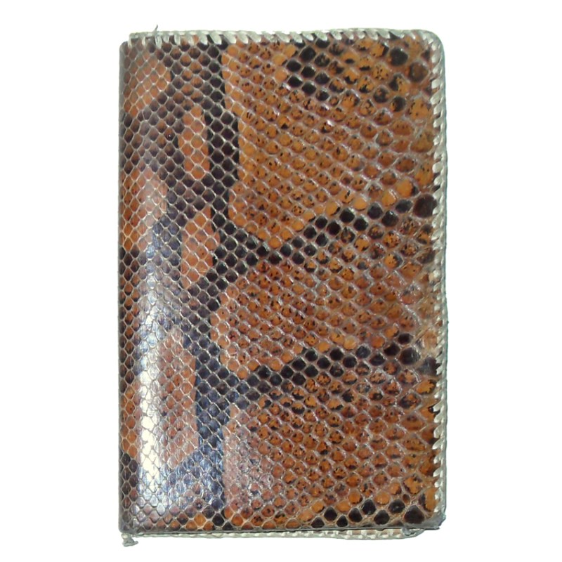 Snakeskin vintage wallet with fold out pockets