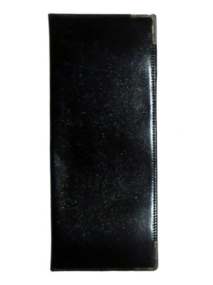 Fortnum & Mason leather goods black cheque book wallet