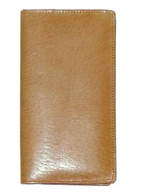 Vintage pigskin wallet with address book and stamp holder